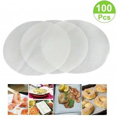 Mity Rain (Set of 100) Non-Stick Round Parchment Paper 10 Inch Diameter,Baking Paper Liners for Round Cake Pans Circle